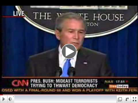 FLASHBACK: Bush admits Iraq had no WMDs & had nothing to do with 9/11