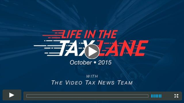 Life in the Tax Lane - October 2015