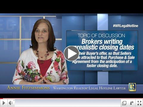 Brokers Writing Unrealistic Closing