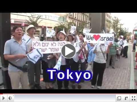 Tokyo, Japan - pro-Israel rally 2014