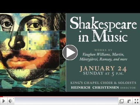 King's Chapel Concert Series: Shakespeare in Music