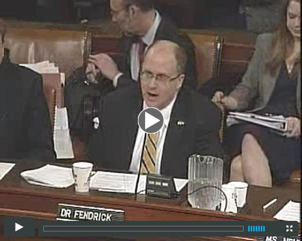 A. Mark Fendrick, MD, testifies in front of the U.S. House Commitee on Ways and Means Subcomittee on Health 02-26-13