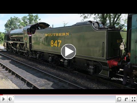 A day on the Bluebell Railway with the S15 in steam, by Mike Trodd.