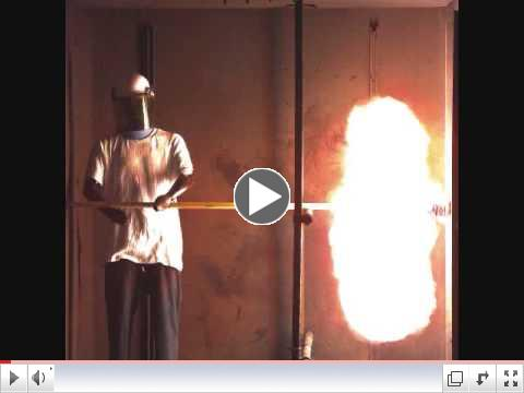 Safety Shield Arc Flash Test (Slow Motion)
