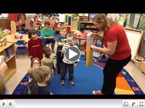 Mail from the North Pole arrives for Indian Trail preschoolers!