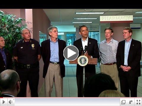 President Obama Speaks After Visiting Aurora, Colorado Hospital