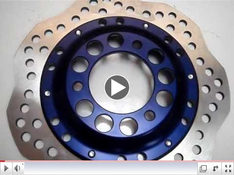 Wave Disk Brakes Anodized BLUE GY6 - Ruckus Conversions NG-1021X-Blue