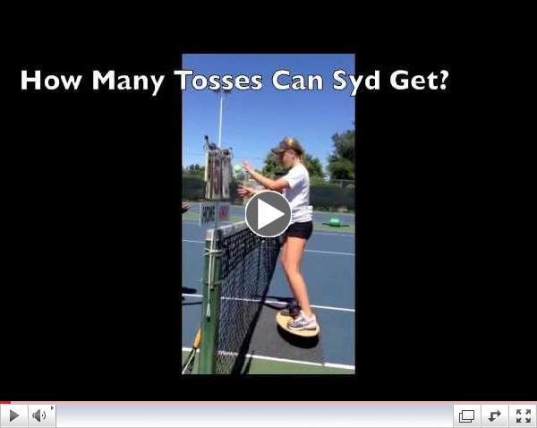 Tennis Training on Si Boards- Quick Hands and Feet