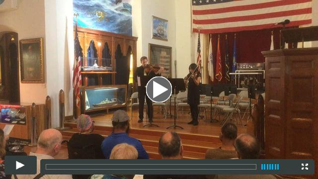 Emilia Cruz and Andrew Waid viola duet